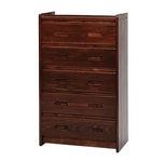WOODCREST MANUFACTURING XCC05-GR-FIVE-DRAWER-CHEST