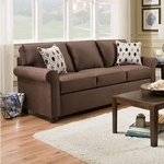 SIMMONS UPHOLSTERY 1530-QUEEN-SLEEPER-SOFA-CHOCOL