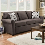 SIMMONS UPHOLSTERY 1530-QUEEN-SLEEPER-SOFA-SMOKE