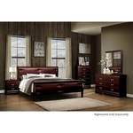 GLOBAL MARLEY-MERLOT-(6)PC-BEDROOMPKG