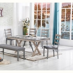 LIFESTYLE ENTERPRISE GRAND-TOUR-TABLE-BENCH-4CHAIRS