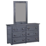 PINE CRAFTER FURNITURE WAL-4956-SIX-DRAWER-DRESSER