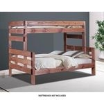 PINE CRAFTER FURNITURE PINECRAFT-TWIN/FULL-BUNK-BED