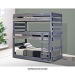 PINE CRAFTER FURNITURE TRIPLE-TWIN/TWIN/TWIN-BUNK-BED