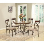 LIFESTYLE ENTERPRISE CHAPS-5PC-DINING-TABLE-PACKAGE