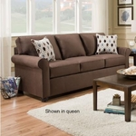 SIMMONS UPHOLSTERY 1530-MINI-SLEEPER-SOFA-CHOCOLA