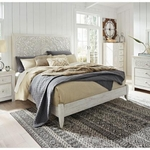 ASHLEY PAXBERRY-KING-BED-WHITE-WASH
